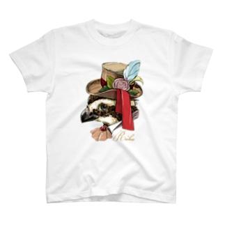 ウズラのRuku_アップ T-shirts