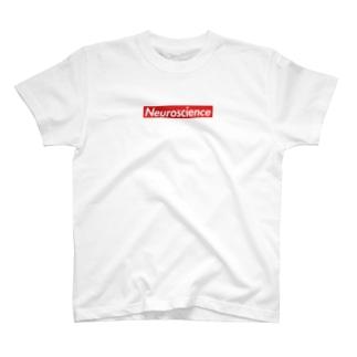 Supreme風Neuroscienceシャツ (白)  T-shirts