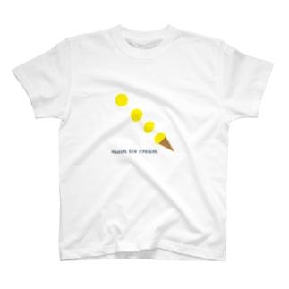 moon ice cream T-shirts