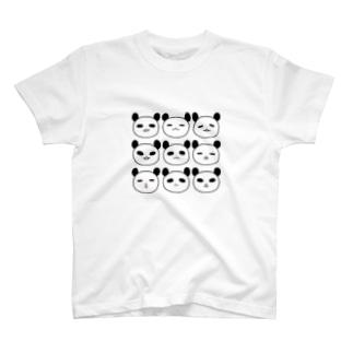 表情パンダ T-shirts