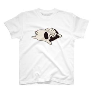 パグ顎から足まで・・・よりべったり T-shirts
