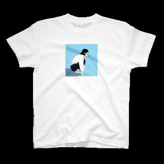chanchanのショートヘアのイケてる彼女 T-shirts