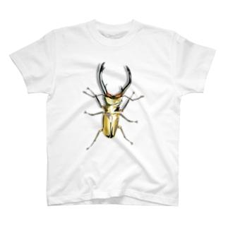 いたずらデザイン(でかいエラフスホソアカクワガタついてますよ) T-shirts