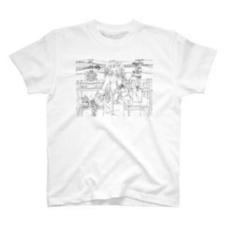 泉まくら 手書き  T-shirts