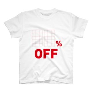 OFF率書き込み T-shirts