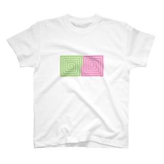 ドット渦巻き T-shirts