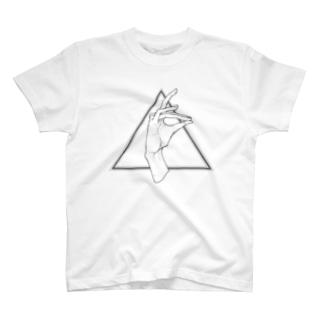 手遊び・狐 T-shirts