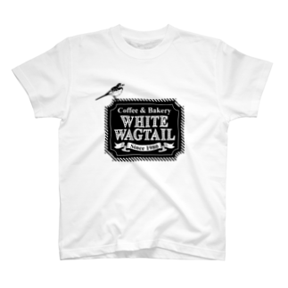 mimimのWhite Wagtail Coffee & Bakery T-shirts