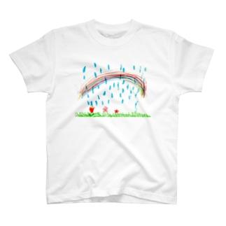 雨と虹 T-shirts