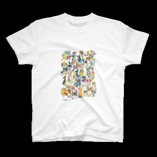 長友心平の勢揃いドッグ T-shirts