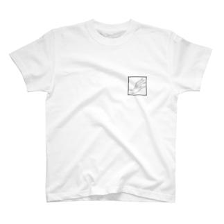 QB🦖のストークハンド(white) T-shirts