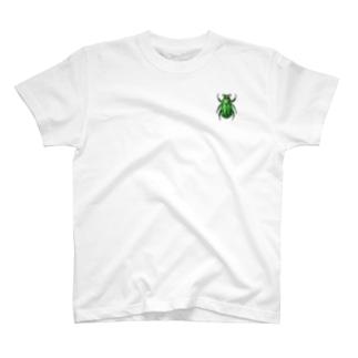 彩りコガネムシ(緑) T-shirts