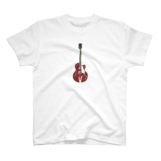 ギター レッド T-shirts