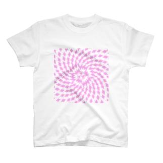 Spiral(Pink & White) T-shirts