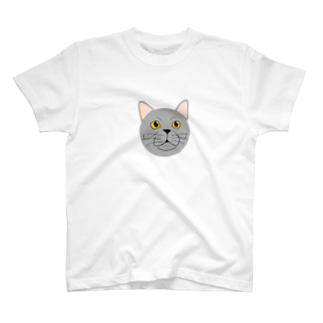 猫のねこはちちゃん T-shirts