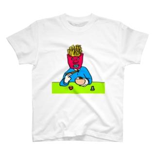 フライドポテトが丼食うとるがな T-shirts