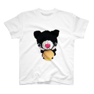 ヒヨコ&黒ネコさんあみぐるみ T-shirts