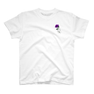 アネモネ紫ー淡色ベース用ー T-shirts