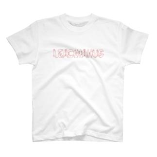 ヤモリ文字 LEACHIANUS(レッド) T-shirts