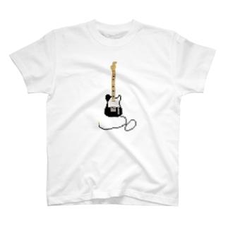 ドット テレキャスター 黒 T-shirts