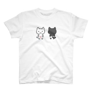 ちびねこぱんつしろねこくろねこ T-shirts