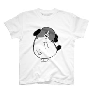 もじゃまる心配 白黒 T-shirts