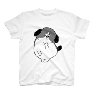 マツバラのもじゃまる心配 白黒 T-shirts