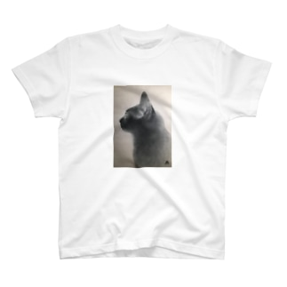 黒猫の横顔 T-shirts