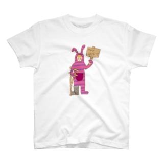 自己犠牲うさぎ T-shirts