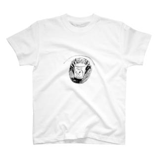 グラスの中の猫 T-shirts