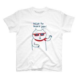 グラサンのしろねこ。 T-shirts