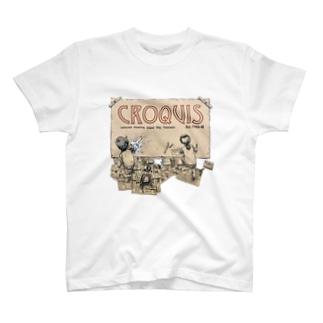 クロッキー帳 T-shirts
