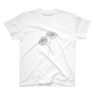 ガーベラ T-shirts