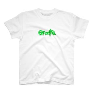 グラフィティ グリーン T-shirts