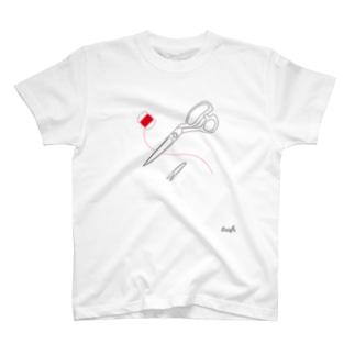 裁ちばさみ&糸切りバサミ T-shirts