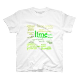 色見本 グリーン vol.4 T-shirts