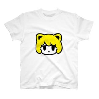 nekomimi face 真顔 T-shirts