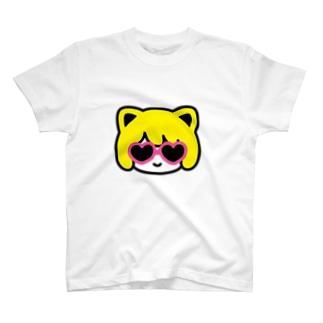 nekomimi face サングラス T-shirts