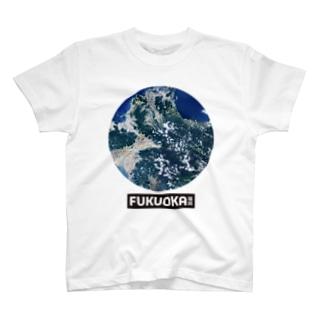 fukuoka衛星画像 T-shirts