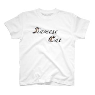 シャム猫文字 T-shirts