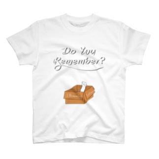段ボール猫デザイン改 T-shirts
