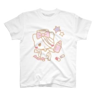 病みホリ猫黄01 T-shirts
