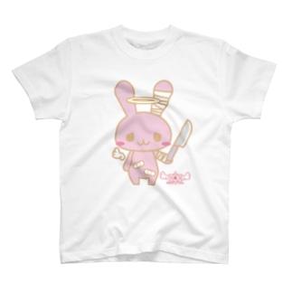 病みホリ兎桃01 T-shirts