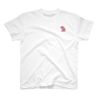 さくら もたけのジト目bulldog(purple×orange) T-shirts