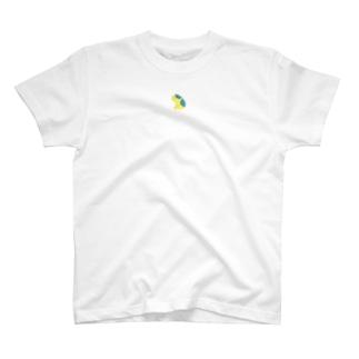 ジト目bulldog(yellow×blue) T-shirts