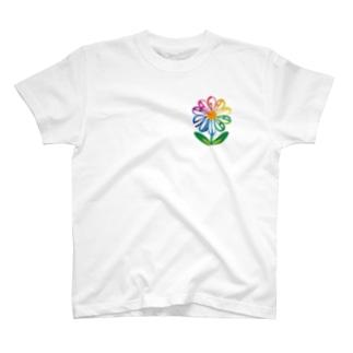 村の暖簾(紺色) T-shirts