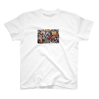 暖色柄 T-shirts
