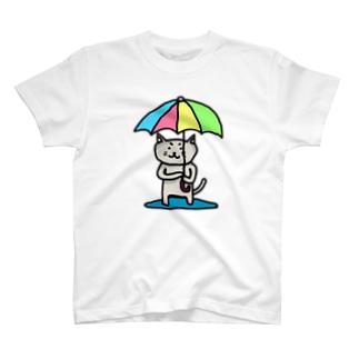 傘猫レインボー T-shirts