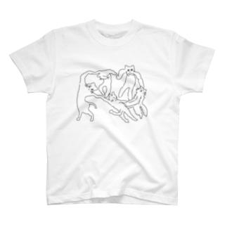 ネケチェン・アウトライン T-shirts