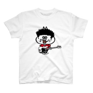Shamrockのパンクロックキャット T-shirts